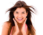 Beauty woman smiling — Stock Photo