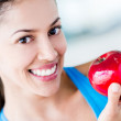 Stock Photo: Healthy eating woman