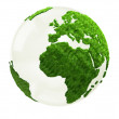 3D World map in grass — Stock Photo