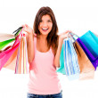 Stock Photo: Female shopaholic