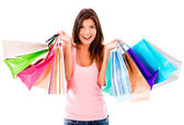 Female shopaholic — Stock Photo