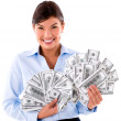 Millionaire business woman — Stock Photo