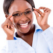 Stock Photo: Business woman wearing glasses