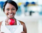 Zdravé stravování žena — Stock fotografie
