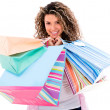 Stock Photo: Beautiful shooping woman