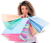 Beautiful shooping woman — Stock Photo