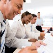 Business in meeting — Stock Photo #27398715
