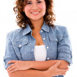 Casual woman smiling — Stock Photo #27404431