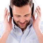 Man with headphones — Stock Photo #27592025