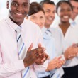 Stockfoto: Happy business team applauding