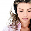 Woman with headphones — Stock Photo #27639871
