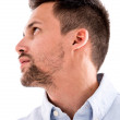 Casual man profile — Stockfoto