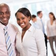 Black business couple — Stock Photo
