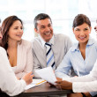 Happy in a business meeting — Stock Photo #27727631