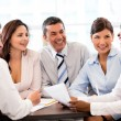 Happy in a business meeting — Stock Photo