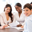 Business woman in a meeting — Stock Photo