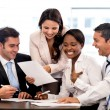 Stock Photo: Business group working together