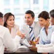 Business in a meeting — Stock Photo
