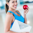 Fit womeating healthy — Stock Photo #27848993