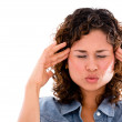 Woman with a headache — Stock Photo #27902351