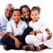 Beautiful African American family — Stock Photo