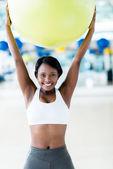 Woman doing Pilates — Stock Photo