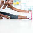 Gym womstretching — Stock Photo #28297913