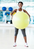 Gym woman doing Pilates — Stock Photo