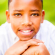 Happy African American boy — Stock Photo