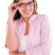 Stock Photo: Casual womwith glasses