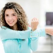 Business woman stretching — Stock Photo