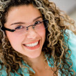 Happy woman wearing glasses — Stock Photo