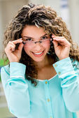 Happy woman with glasses — Stock Photo