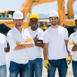 Men at a construction site — Stock Photo