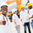 Happy engineer with thumbs up — Stock Photo #29804971