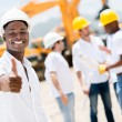 Stock Photo: Happy engineer with thumbs up