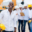 Engineer at the construction site — Stock Photo