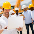 Engineer at a construction site — Stock Photo