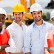 Group of construction workers — Stock Photo
