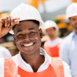 Stock Photo: Construction worker at building site