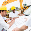 Group of civil engineers working — Stock Photo
