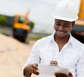 Civil engineer working — Stock Photo