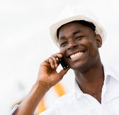 Architect on the phone — Stock Photo