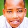 Portrait of an African American boy — Foto Stock