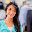 Shopping woman at a store — Stock Photo