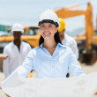 Foto Stock: Architect at a construction site