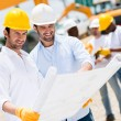 Stock Photo: Architects at a building site