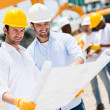 Stock Photo: Architects at building site