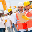 Architects at a construction site — Stock Photo