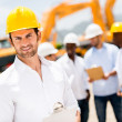Stock Photo: Engineer at construction site